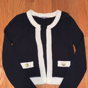 Fancy, black & white cardi from Charlotte Russe